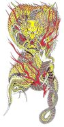 Ryuji Goda kouryu tattoo complete design