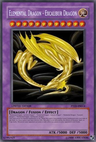 Elemental Dragon - Excalibur Dragon | Yu-Gi-Oh Card Maker ... Element Dragon Yugioh