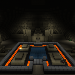 A large secret room underneath the tower.