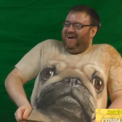 Simon's doggy shirt.
