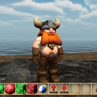 In-game picture showing the basic HUD and character.