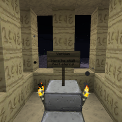 Verigan's grave in a small room next to the tower.