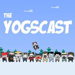 The Minecraft Christmas background featuring the Yogscast