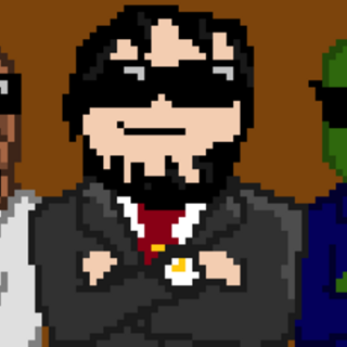 Hat Films pixel art.