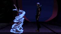 Zatanna changes her clothing