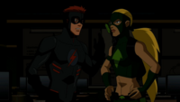 Artemis and Kid Flash argue