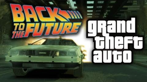 GTA 4 Back To The Future Mod! - (Funny Moments w Mods)