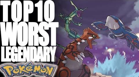 Top 10 Worst Legendary Pokémon