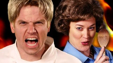 Gordon Ramsay vs Julia Child