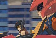 5Dx031 Yusei alongside Crow