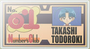 Takashi's Number Club Member's Card