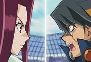 Akiza versus Yusei