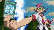 Yuma Activates Monster Reborn