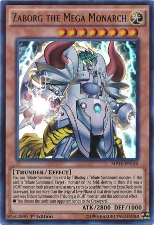 Zaborg the Mega Monarch | Yu-Gi-Oh! | FANDOM powered by Wikia Zaborg The Thunder Monarch