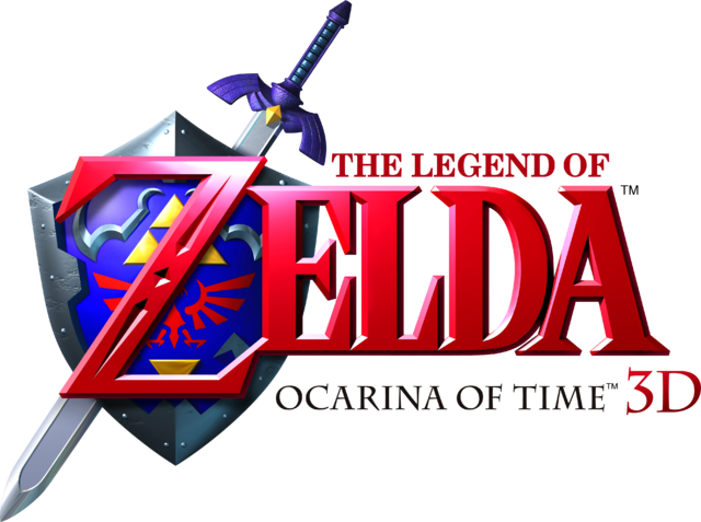 File:The Legend of Zelda - Ocarina of Time 3D (logo).png