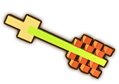 Hyrule Warriors Demon Blade 8-Bit Arrow (8-bit Demon Blade)