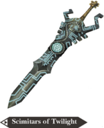 Hyrule Warriors Scimitars Scimitars of Twilight (Render)