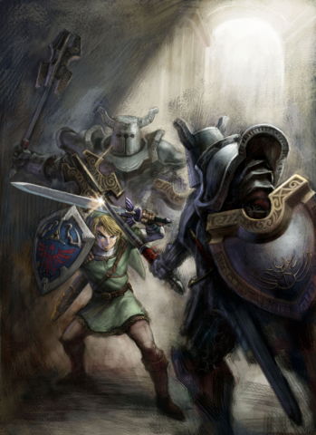 File:Link vs. Darknuts (Twilight Princess).png