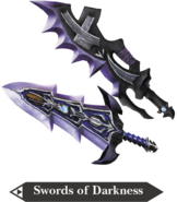 Hyrule Warriors Great Swords Swords of Darkness (Render)