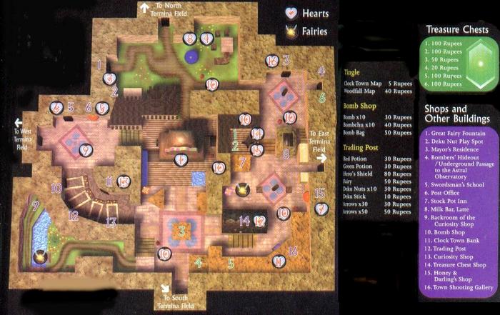 Clock Town Map