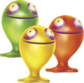Green, Red, & Yellow ChuChus Render (Hyrule Warriors Legends).png