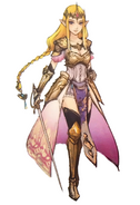 Hyrule Warriors Artwork Princess Zelda Standard Robes (Concept Art)