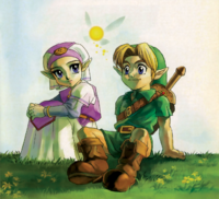 Link and Zelda (Ocarina of Time)