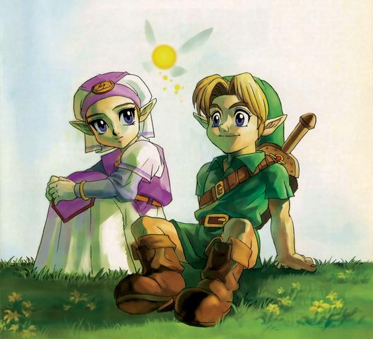 File:Link and Zelda (Ocarina of Time).png