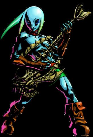 File:Majora's Mask 3D Artwork Zora Link - Guitar of Waves (Official Artwork).png