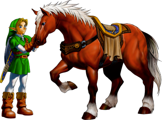 File:Link and Epona (Ocarina of Time).png