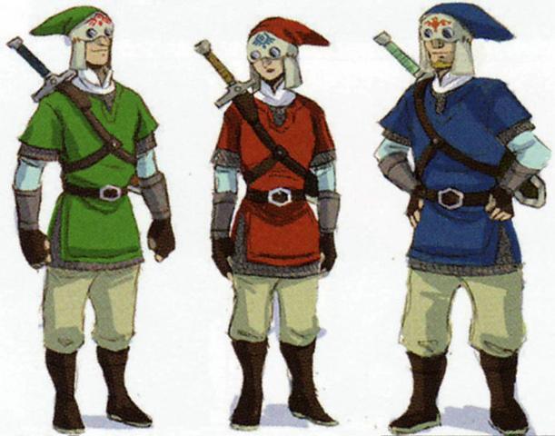 File:Skyward Sword Artwork Knights of Skyloft (Concept Artwork).png