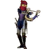 Hyrule Warriors Legends Sheik Standard Outfit (Great Sea - Tetra Recolor)