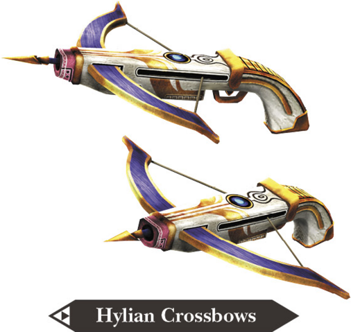 File:Hyrule Warriors Legends Crossbows Hylian Crossbows (Render).png