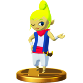Super Smash Bros. for Wii U Pirate Princess Tetra (The Wind Waker) Tetra (Trophy)