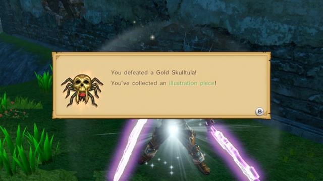 File:Hyrule Warriors Illustration Piece Gold Skulltula (spoils).png
