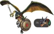 Hyrule Warriors Dragons Aeralfos & Fiery Aeralfos (Render)