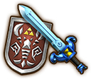 Hyrule Warriors Legends Light Sword Phantom Sword & Shield of Antiquity (Level 2 Light Sword)