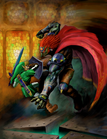 File:Link vs. Ganondorf (Ocarina of Time).png