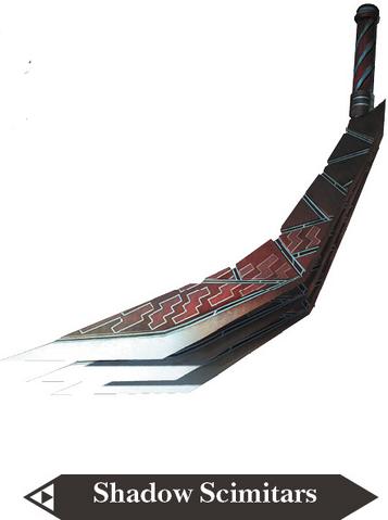File:Hyrule Warriors Scimitars Shadow Scimitars (Render).png