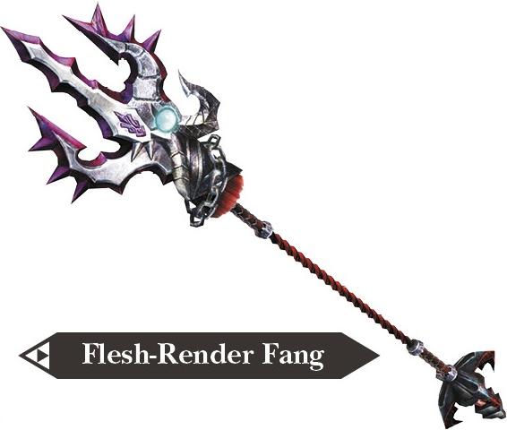 File:Hyrule Warriors Dragon Spear Flesh-Render Fang (Render).png