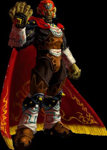 File:Ocarina of Time 3D Artwork Ganondorf - The Gerudo King of Evil(Offical Artwork).png