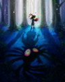 Majora's Mask 3D Artwork Skull Kid after stealing Majora's Mask (Official Artwork).png