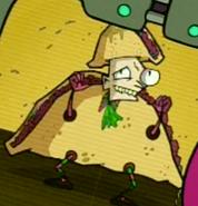 Crazy taco mascot