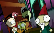Invader zim zim pointing and laughing at dib