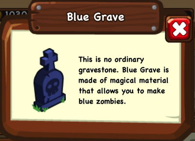 Blue grave info