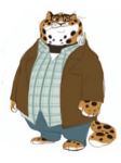 Clawhauser Glasses Art