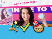 Run for office emoticon