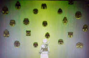 Youko confronted with masks
