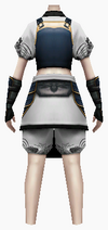 Fujin-king ancient armor-female-back