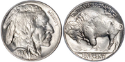 1937 US 3leggedbuffalo nickel